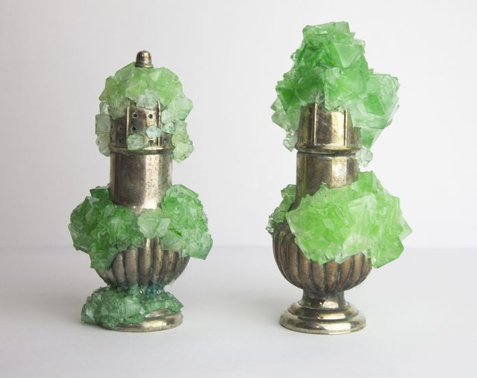 Green Titanite Salt and Pepper Shakers, Erin Stafford