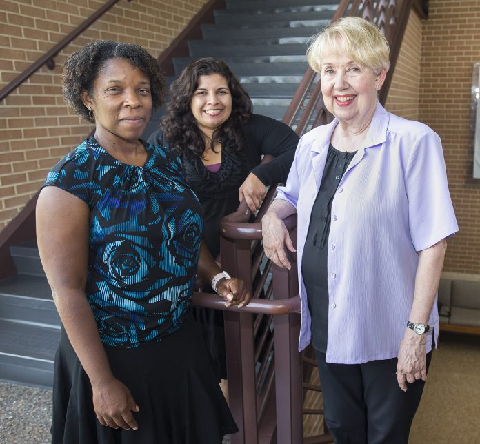 Tamika Steward, Monica Sosa and Violet O'Valle discuss how things have changed for women over the years at TCC.
