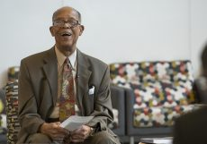 Cary discusses his life as well as his career as an educator, politician and author at his 97th birthday party on South Sept. 9.
