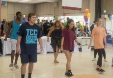A large open area in the NW student center was available for students to dance to music.