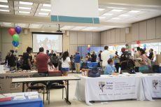 Students visit booths from NW clubs and organizations, including one from the TCC police department at the Sept. 7 Northwest Fest in the student center.