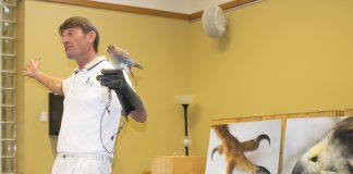 Blackland Prairie Raptor Center executive director Erich Neupert