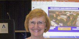 Former student publications director Eddye Gallagher holds her TCCJA award Oct. 6.