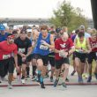 Runners start the Toro Dash 10K race Nov. 4 at Panther Island in Fort Worth. Hundreds of runners started their morning early for various races along the Trinity River Trails to raise money for scholarships.