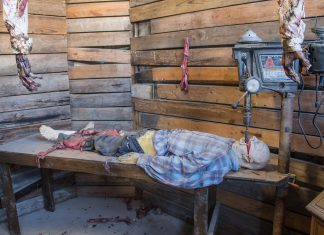 With 30 different rooms, it's unlikely that anyone would walk through Hangman's House of Horrors without being spooked by something. Its Valentine's Day specials are no exception.