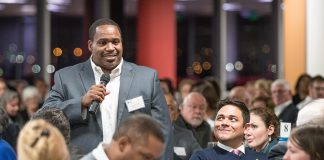 At last year's dinner, scholarship winner Kacy Davis talks about how he stayed up all night after learning he'd won a scholarship because he was so excited.