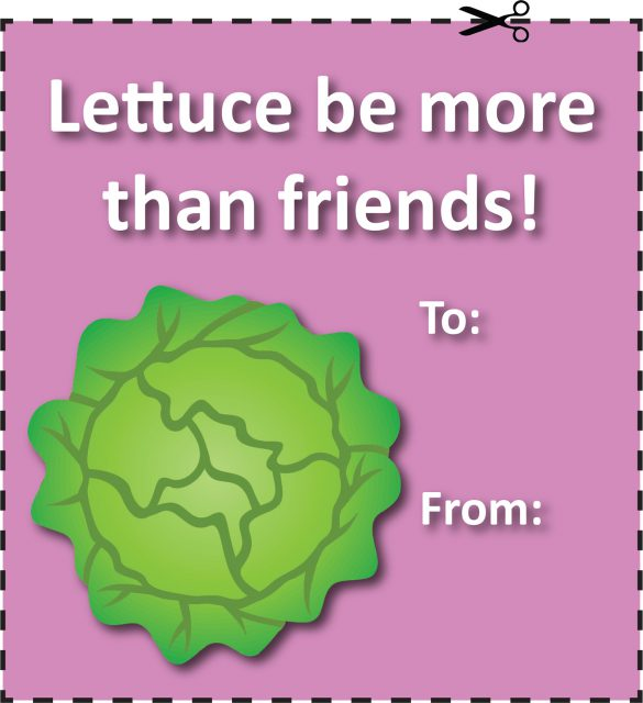 For the unconventional valentine, print and cut out one of the non-traditional, free Valentine's Day cards and give to your friends.