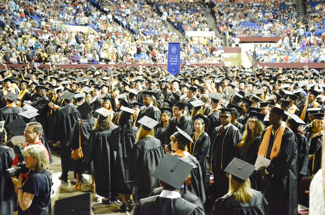 About 2,000 TCC students are expected to participate in two commencement ceremonies May 12 at Fort Worth Convention Center, up from last year's 1,750 graduates.