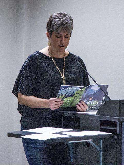 """Jeana Owens reads her academic essay, """"White Lies, Dark Truth."""""""