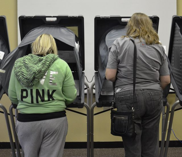 Tarrant County voters cast their ballots early on NE Campus in a previous election. Election Day is Nov. 6, and early voting is now through Nov. 2.