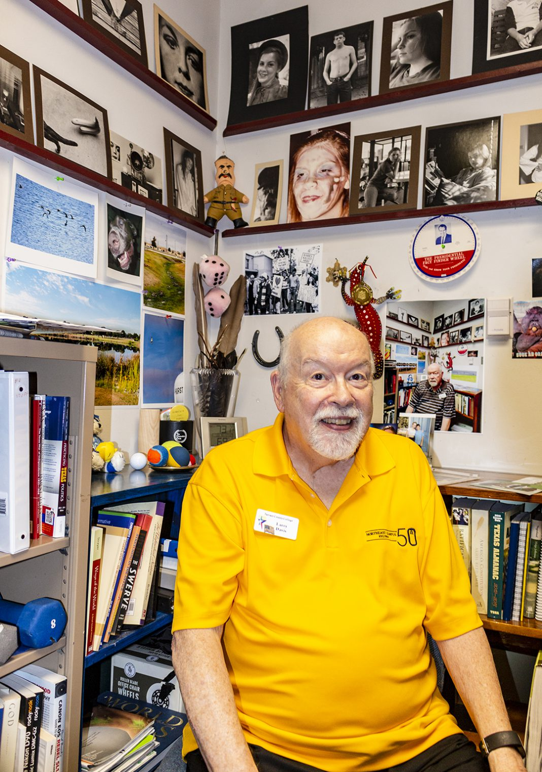 NE Campus government associate professor Larry Davis has taught on the campus since it opened in 1968.