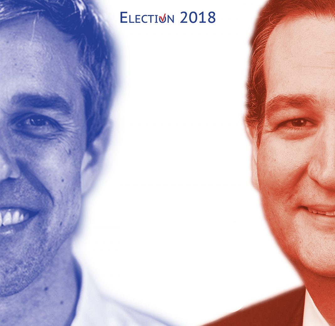 Democrat U.S. Rep. Beto O'Rourke faces Republican U.S. Sen. Ted Cruz in one of the most closely watched races of this year's midterm election.