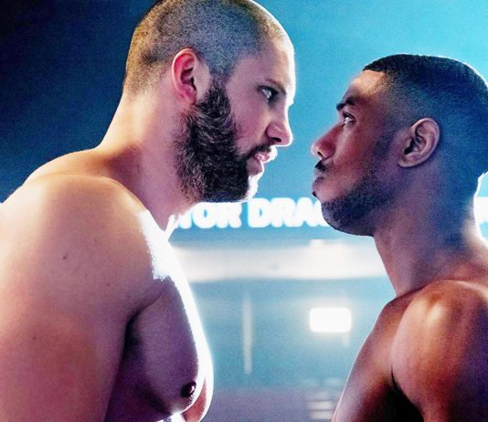 Michael B. Jordan returns as Adonis Creed for the seventh film in the Rocky franchise. He faces Victor Drago (Florian Munteanu) son of Ivan Drago (Dolph Lundgren) who killed Creed's father before he was born.