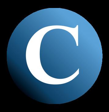Collegian Logo Fall 2019 - White C Black Border Smooth Gradient